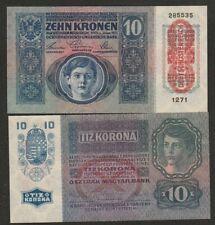 KM#19 - 1915 AUSTRIA 10 KRONEN NOTE UNC