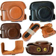 PU Leather Camera Case Bag Pouch & Strap Belt for Canon Powershot G15 G16 NEW