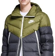 Nike NSW Down Fill Hooded Puffa Jacket AO8911-395 Black/Olive Size XXL New