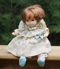 "Vintage Doll Dolls By Pauline Tagged 10"" Tall Red Hair Opening Closing Eyes Nice"