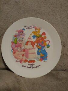 "Deka Popples Plastic Dish Plate 8"" 1986"