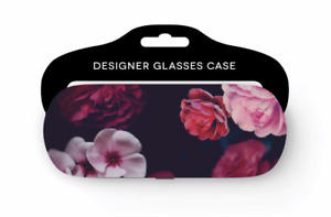 NEW - Pretty & Colourful Floral/Flower Design Glasses Case With Soft Felt Lining
