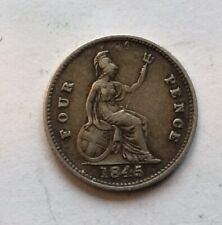 1845 Victoria Groat (Fourpence) F/VF