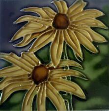 Black Eyed Eye Susan Flower Decorative Ceramic Wall Art Tile 4x4 New