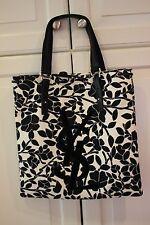 RARE NWOT Auth Yves Saint Laurent Canvas Kahala Tote Bag Purse Black/White NEW