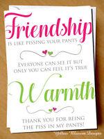 Funny Cheeky Friendship Birthday Card Best Friend Bestie Novelty Girlie Girls