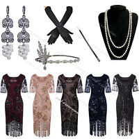 50s Style Dress Vintage Retro 1920s Dress Flapper Costumes Gatsby Evening Gowns