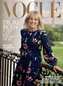 DR JILL BIDEN - FIRST LADY - Vogue Magazine - August 2021 - BRAND NEW - NO LABEL