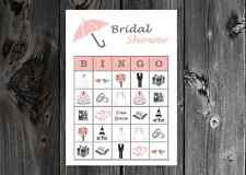Bridal Shower / Wedding Party Game Bingo Cards on Card Stock 10/20/30ct