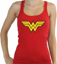 Wonder Womens t shirt superman batman super heroes Vest Tank Top red S-XL