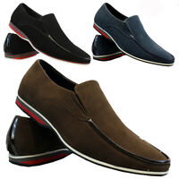 NEW MENS SUEDE LOOK DESIGNER SHOES ITALIAN LOAFERS CASUAL MOCCASIN DRIVING BOOTS