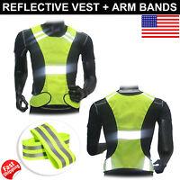 Reflective Adjustable Safety Security High Visibility Vest Gear Stripes Jacket