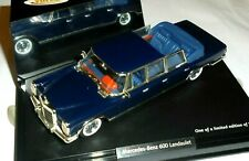 car 1/43 VITESSE 28614 MERCEDES BENZ (W100) 600 LONG LANDAULET 1965 BLUE NEW BOX