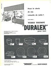 Publicité Advertising 028  1956  Duralex  vaisselle de table verre trempé