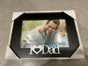 New in Box I Love Dad Black 4X6 Malden Picture Frame