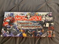 MONOPOLY TRANSFORMERS | BOARD GAME | 2007 | COLLECTOR'S EDITION | COMPLETE SET