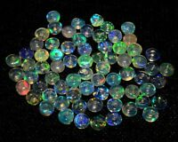 O- Ethiopian Opal Fire Opal Welo Natural Gemstone Rondelle Plain Loose Bead AAA+