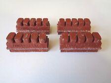 *NOS Vintage 1960s/70s UNIVERSAL brick red Italian brake pads upgrade (x4pcs)*