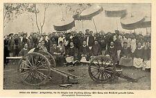China Feldgeschütze der Belgier für Chang-Chi-Tang  Historische Aufnahme 1899
