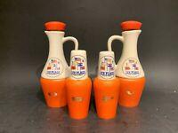 Vintage MCM Six Flags Over Mid America Oil Vinegar Salt Pepper Hakusan Japan
