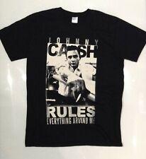 Johnny Cash Men's Rules T-shirt Black Medium
