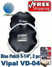 """OTR BIAS Tire Repair Patch #4 OFF ROAD AGRICULTURAL TIRE 5-1/4"""" Bag of 2 Europe"""