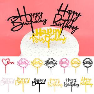 14Stück Torten Kuchen Muffin Aufsatz Happy Birthday Geburtstag Party Dekoration