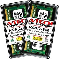 A-Tech 16GB 2 x 8GB PC3-12800 Laptop SODIMM DDR3 1600 Memory RAM PC3L 16G DDR3L