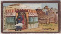 Turkestan Kibitka Tent Like Dwelling 1920s Ad Trade Card