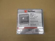 """1 NIB TAYMAC DB375S 2-GANG OUTLET BOX 3/4"""" HOLES FOR WET LOCATIONS"""