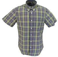 Warrior Mens Grey/Lime 100% Cotton Short Sleeved Shirts