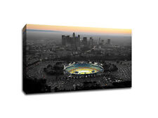 "Downtown Los Angeles with Dodger Stadium - Touch of Color - 24"" x 36"" Canvas"