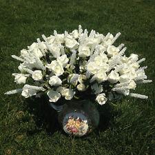 8BA3 Milk Wedding 9 Heads Lavender  Rose*Artificial Silk Flowers Home Decor