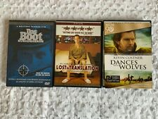 Das Boot (Director's Cut), Lost In Translation, Dances With Wolves, 3 Dvd Lot