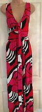 Wallis Size 16 Maxi Dress Summer/holiday/party/BBQ/pink/white/black/red