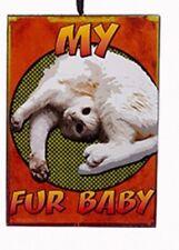 "KSA WOODEN CAT ATTITUDE PLAQUE ORNAMENT ""MY FUR BABY"""