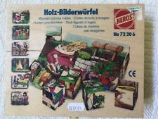 Heros Holz-bilderwufel Wooden Picture Cube Puzzle (6 Puzzles) In Wood Box
