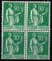 France 1937 Bloc de 4 n° 367 neuf ★★ Luxe / MNH