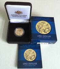 2014 $1 Ram World Money Fair Berlin Aluminium/Bronze Proof Coin