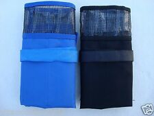 2 pcs Fishing Lure Bag Blue and Black - 6 Pocket Storage Jig bait bags