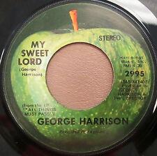 "George Harrison, Apple Records vinyl 45, 2995, ""Isn't It a Pity"",""My Sweet Lord"""