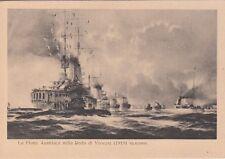 7967) WW1, 1919, LA FLOTTA AUSTRIACA NELLA RADA DI VENEZIA.