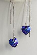 Purple Heart Argento Sterling Orecchini 925 infila ago Cristallo Swarovski Elements
