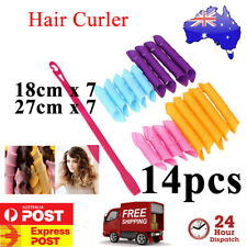 14 pcs Magic Leverag Hair Curler Curlers Formers Spiral Styling Rollers DIY Tool