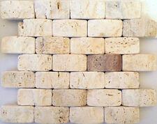 pietra incollati su rete piastrelle in marmo 28x25 con tessere 7x3,5 antica