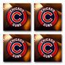 Chicago Cubs Baseball Rubber Square Coaster set (4 pack) SRC2004
