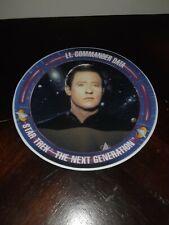 """90s Star Trek: Next Generation Tv Show Porcelain Mini Plate """"Lt. Commander Data"""""""