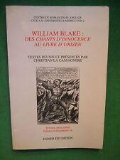 WILLIAM BLAKE  DIR C LA CASSASAGNERE CENTRE ROMANTISME ANGLAIS CERAN LYON 2
