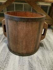 Antique Bucket Handles Wrought Iron Wood Well Sugar Bucket 12� Tall 12� Wide