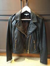 FAITH CONNEXION Lambskin Black Leather Jacket